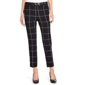 🌿 MERONA Classic Ankle Grid Print B&W pants